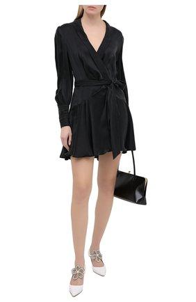 Женское шелковое платье ZIMMERMANN черного цвета, арт. 8067DRLAD | Фото 2