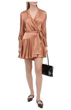Женское шелковое платье ZIMMERMANN бежевого цвета, арт. 8067DRLAD | Фото 2