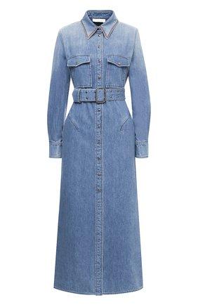 Женское джинсовое платье CHLOÉ синего цвета, арт. CHC20WDR19158 | Фото 1