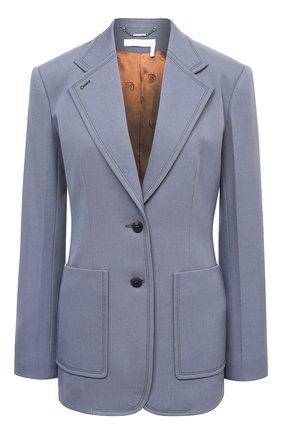 Женский шерстяной жакет CHLOÉ голубого цвета, арт. CHC20WVE21066 | Фото 1