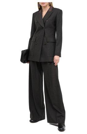 Женский шерстяной жакет CHLOÉ темно-коричневого цвета, арт. CHC20WVE42065   Фото 2