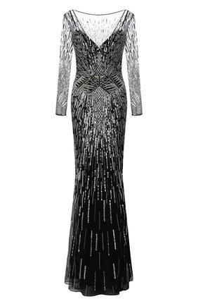 Женское платье ZUHAIR MURAD черно-белого цвета, арт. DRP20032/EMST001 | Фото 1