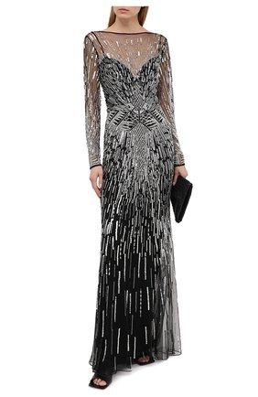 Женское платье ZUHAIR MURAD черно-белого цвета, арт. DRP20032/EMST001 | Фото 2