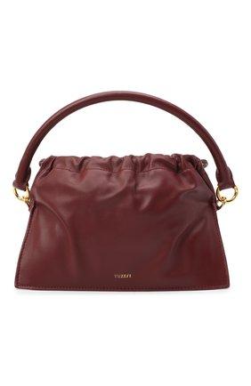Женская сумка bom mini YUZEFI бордового цвета, арт. YUZAW20-HB-B0-02 | Фото 1 (Сумки-технические: Сумки через плечо, Сумки top-handle; Материал: Натуральная кожа; Размер: mini; Ремень/цепочка: На ремешке)