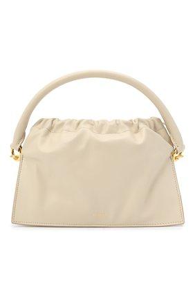 Женская сумка bom YUZEFI бежевого цвета, арт. YUZAW20-HB-B0-01   Фото 1 (Материал: Натуральная кожа; Ремень/цепочка: На ремешке; Сумки-технические: Сумки top-handle, Сумки через плечо; Размер: small)