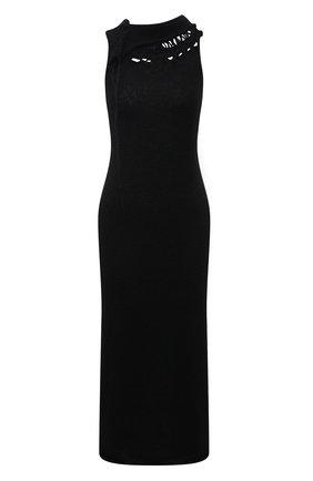Женское платье YOHJI YAMAMOTO черного цвета, арт. FR-K27-197   Фото 1