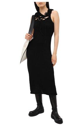 Женское платье YOHJI YAMAMOTO черного цвета, арт. FR-K27-197   Фото 2