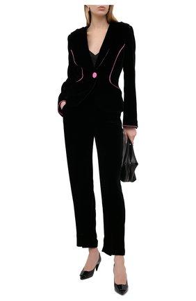 Женский бархатный жакет GIORGIO ARMANI черного цвета, арт. 0WHGG0K9/T01FD | Фото 2
