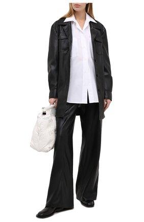 Женская хлопковая рубашка MSGM белого цвета, арт. 2942MDE105 207813 | Фото 2
