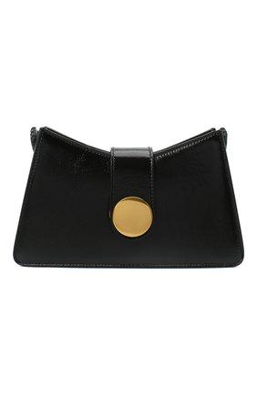 Женская сумка baguette small ELLEME черного цвета, арт. BAGUETTE/PATENT LAMBSKIN | Фото 1