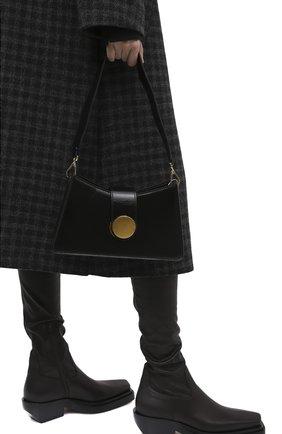 Женская сумка baguette small ELLEME черного цвета, арт. BAGUETTE/PATENT LAMBSKIN | Фото 2