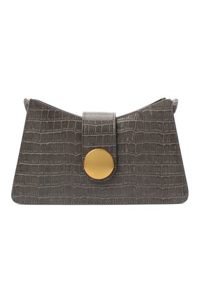 Женская сумка baguette small ELLEME серого цвета, арт. BAGUETTE/CR0C0 PRINT LEATHER | Фото 1