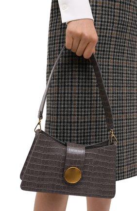 Женская сумка baguette small ELLEME серого цвета, арт. BAGUETTE/CR0C0 PRINT LEATHER | Фото 2