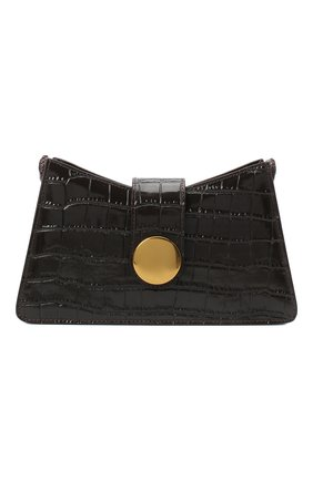 Женская сумка baguette small ELLEME темно-коричневого цвета, арт. BAGUETTE/CR0C0 PRINT LEATHER | Фото 1