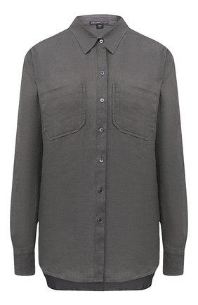 Женская льняная рубашка JAMES PERSE хаки цвета, арт. WLSL3526 | Фото 1