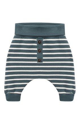 Детские хлопковые брюки SANETTA синего цвета, арт. 10109 | Фото 1