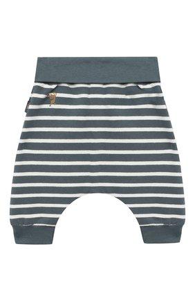 Детские хлопковые брюки SANETTA синего цвета, арт. 10109 | Фото 2