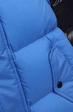 Детского пуховый комбинезон MONCLER синего цвета, арт. F2-951-1G508-20-53333/18M-3A   Фото 3
