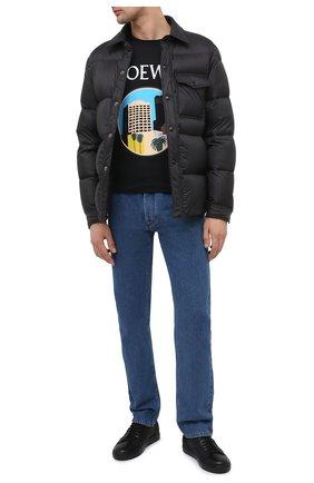 Мужские кожаные кеды BILLIONAIRE черного цвета, арт. O20S MSC2914 BLE066N   Фото 2