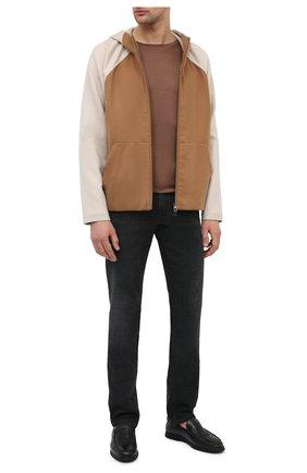 Мужские кожаные лоферы BILLIONAIRE черного цвета, арт. O20S MSB0475 BLE010N   Фото 2