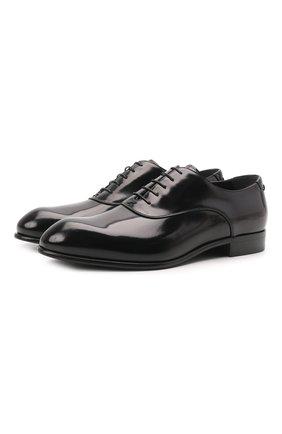 Мужские кожаные оксфорды ZEGNA COUTURE черного цвета, арт. A4618X-LHDLS | Фото 1