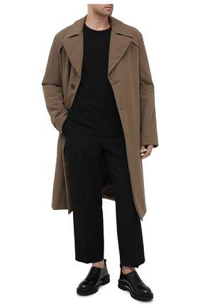 Мужские кожаные оксфорды ATTIMONELLI'S хаки цвета, арт. AA436 | Фото 2