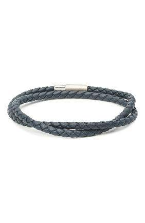 Мужской кожаный браслет TATEOSSIAN синего цвета, арт. BL7735 | Фото 1 (Материал: Кожа)