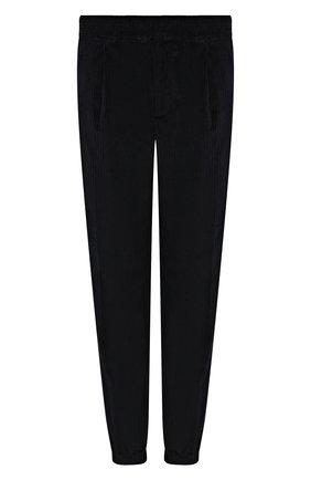 Мужские хлопковые джоггеры LORO PIANA темно-синего цвета, арт. FAL4258 | Фото 1 (Материал внешний: Хлопок; Длина (брюки, джинсы): Стандартные; Силуэт М (брюки): Джоггеры; Стили: Спорт-шик)