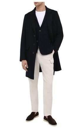 Мужской пиджак из шерсти и кашемира FIORONI темно-синего цвета, арт. MKF21315G1   Фото 2