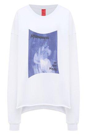 Женская хлопковый свитшот 404 NOT FOUND белого цвета, арт. 400101 | Фото 1