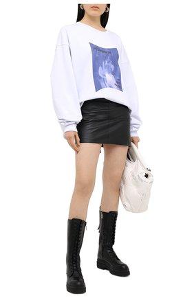 Женская хлопковый свитшот 404 NOT FOUND белого цвета, арт. 400101 | Фото 2
