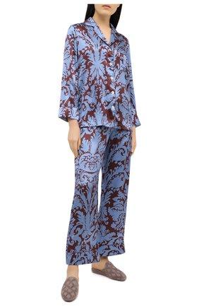 Женская пижама LUNA DI SETA голубого цвета, арт. VLST60704 | Фото 1