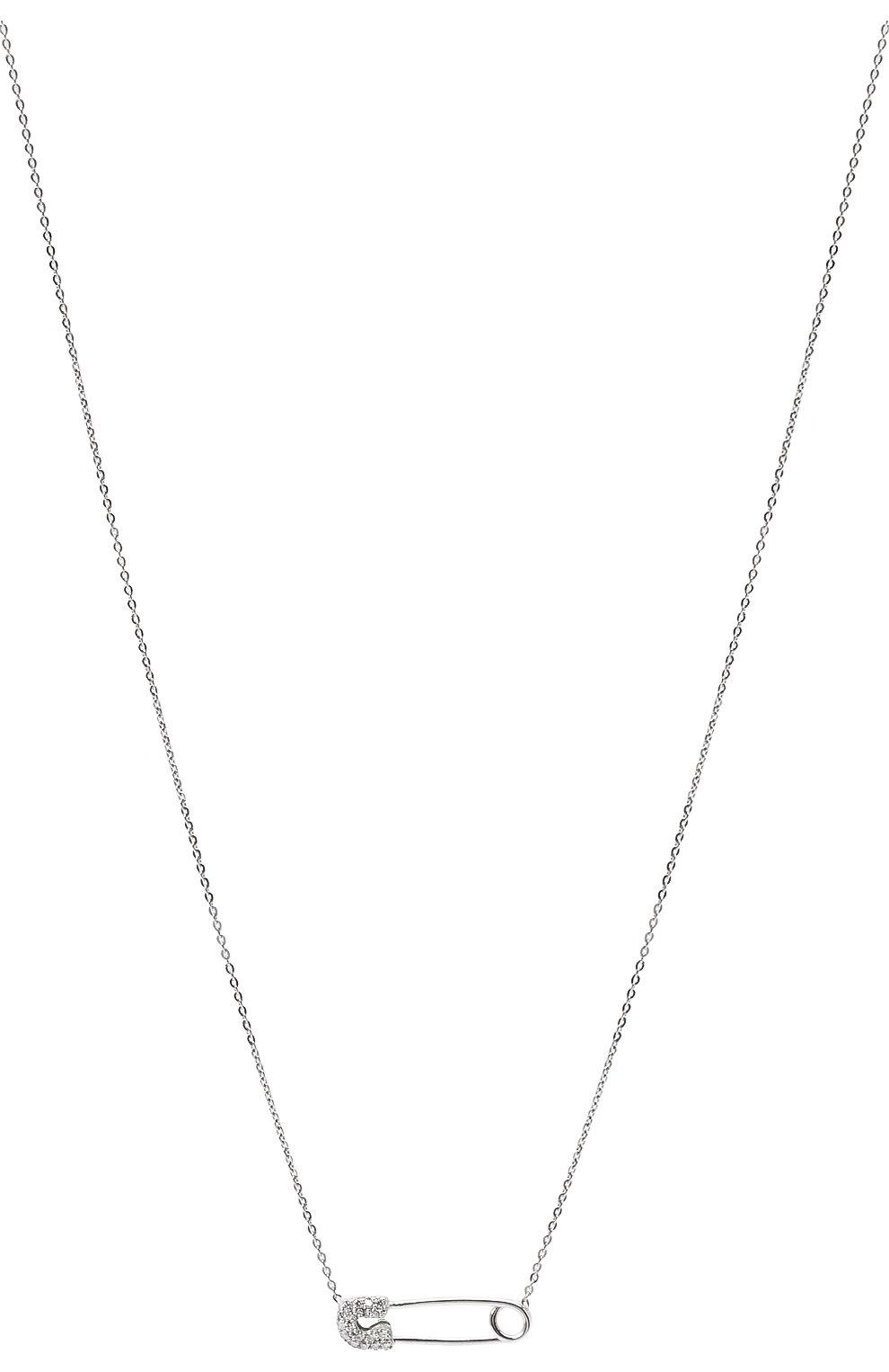 Женское колье J-POINT белого цвета, арт. ИПГ857.48.141020.12W | Фото 2