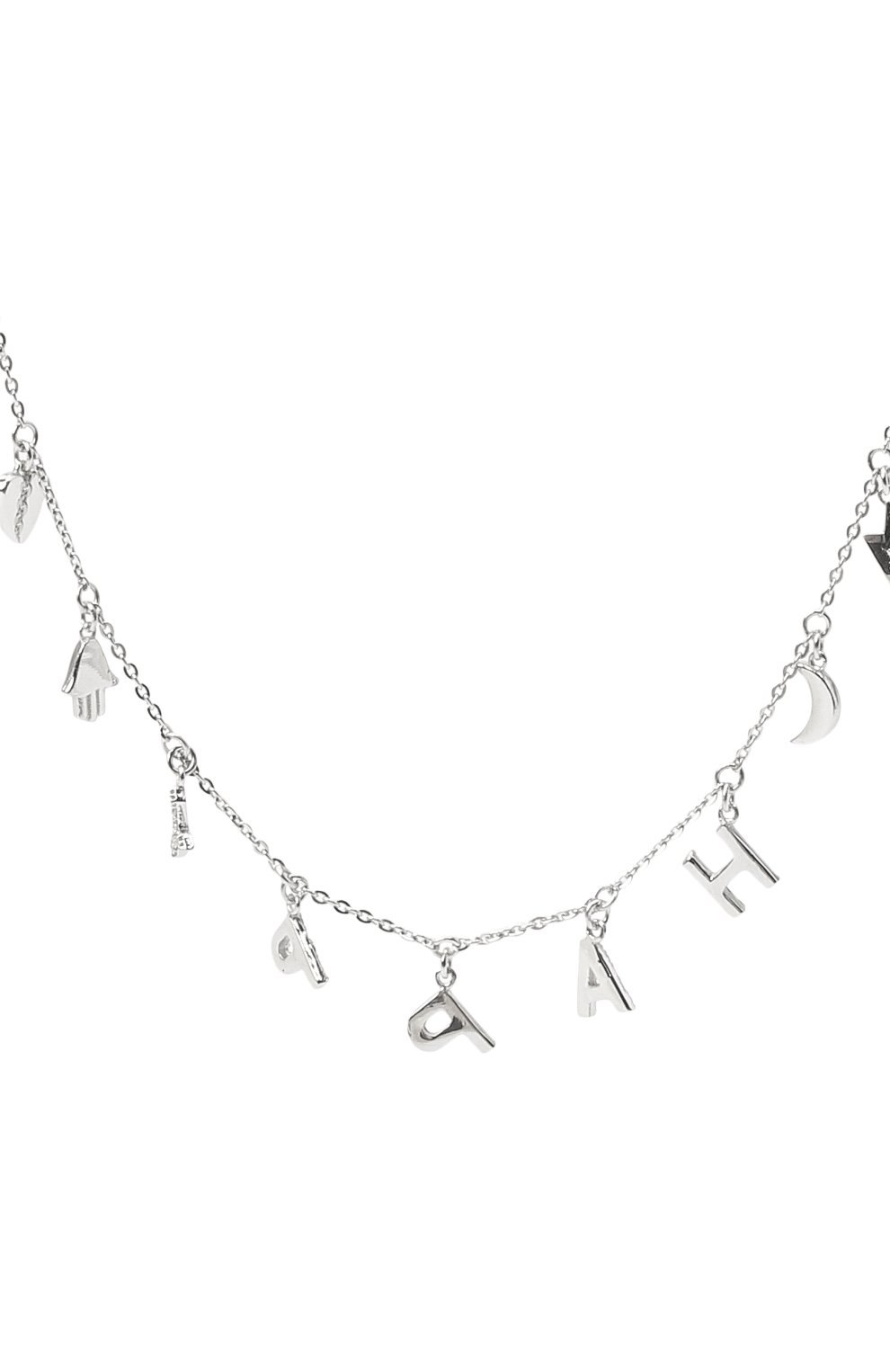 Женское колье happy J-POINT белого цвета, арт. ИПГ857.49.161020.23W | Фото 2 (Материал: Золото)