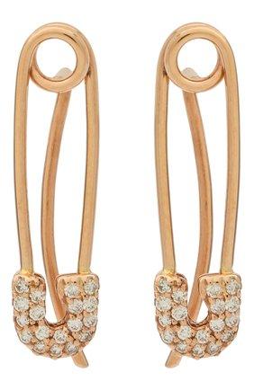 Женские серьги J-POINT золотого цвета, арт. ИПГ857.56.030719.11P   Фото 1