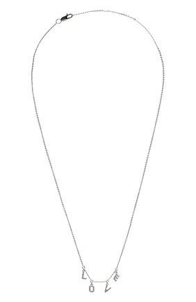 Женское колье love J-POINT белого цвета, арт. ИПГ857.39.040920.11W   Фото 1