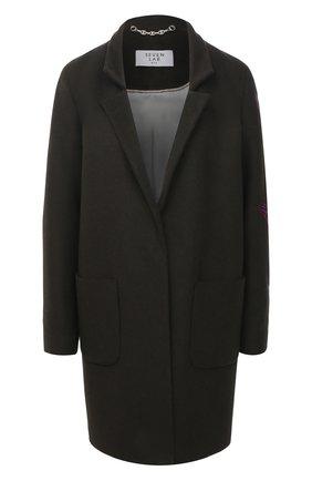 Женское шерстяное пальто SEVEN LAB темно-зеленого цвета, арт. C19-01 olive   Фото 1