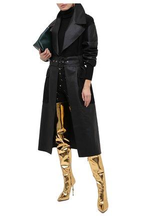 Женские ботфорты PHILIPP PLEIN золотого цвета, арт. A20S WSD0388 PTE003N | Фото 2