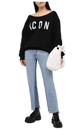 Женская хлопковый свитшот DSQUARED2 черного цвета, арт. S80GU0018/S25042 | Фото 2