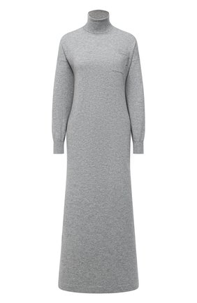 Женское кашемировое платье BRUNELLO CUCINELLI темно-серого цвета, арт. M2E811A93 | Фото 1