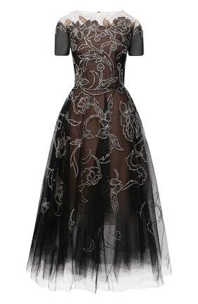 Женское платье OSCAR DE LA RENTA черного цвета, арт. 20PE662TUL | Фото 1