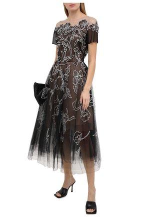 Женское платье OSCAR DE LA RENTA черного цвета, арт. 20PE662TUL | Фото 2