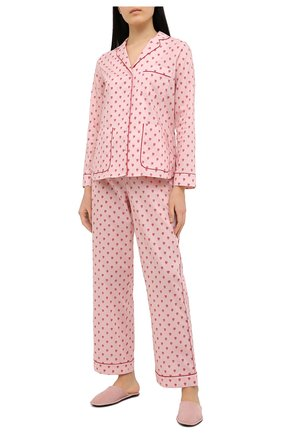 Женская хлопковая пижама YOLKE розового цвета, арт. SS21-58C-QH-GF | Фото 1