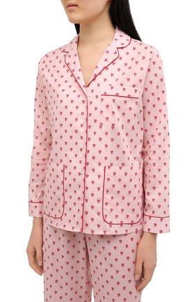 Женская хлопковая пижама YOLKE розового цвета, арт. SS21-58C-QH-GF | Фото 2