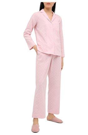 Женская хлопковая пижама YOLKE розового цвета, арт. SS21-02C-CJ-PI | Фото 1