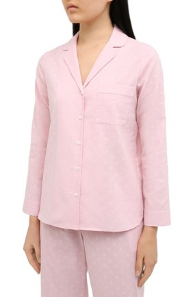Женская хлопковая пижама YOLKE розового цвета, арт. SS21-02C-CJ-PI | Фото 2