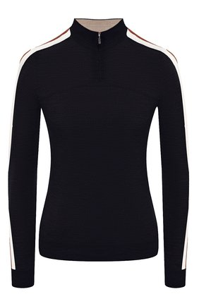 Женский шерстяной пуловер LORO PIANA темно-синего цвета, арт. FAL0054   Фото 1