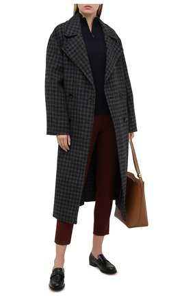 Женский шерстяной пуловер LORO PIANA темно-синего цвета, арт. FAL0054   Фото 2