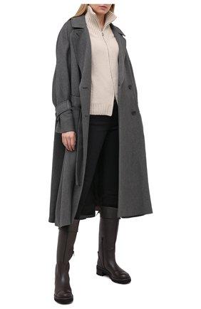 Женские кожаные сапоги SEE BY CHLOÉ темно-коричневого цвета, арт. SB35062B/12550   Фото 2