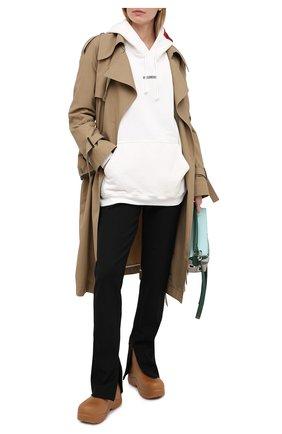 Женская хлопковое худи VETEMENTS белого цвета, арт. UE51TR550W 1601/W | Фото 2